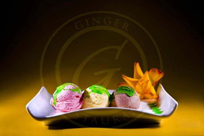 Ginger Polska Restauracja w Londynie-deser lodowy