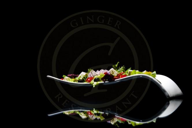Ginger Polska Restauracja w Londynie sałatka grecka